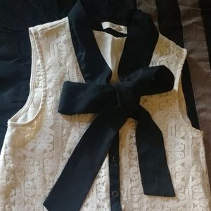 Tops - Blause with lace fabric